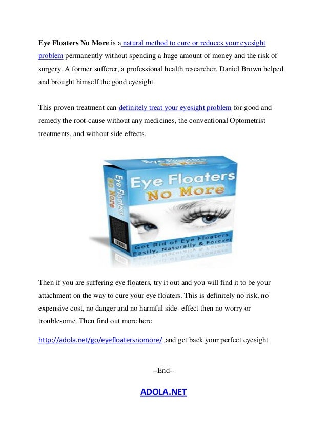 Remedies For Floaters In Eyes
