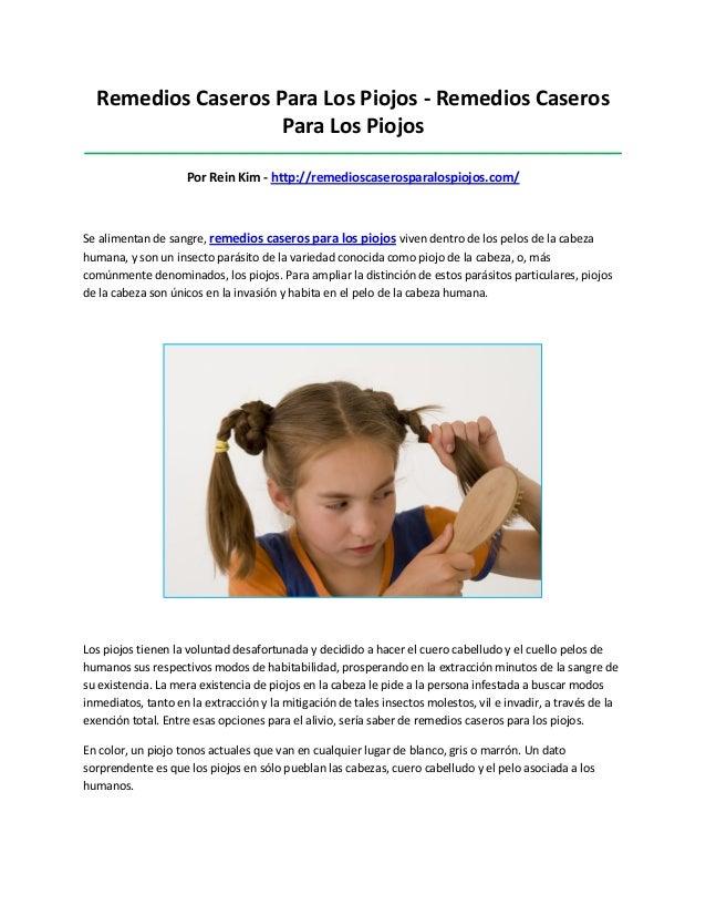 Remedios Caseros Para Los Piojos - Remedios CaserosPara Los Piojos________________________________________________________...