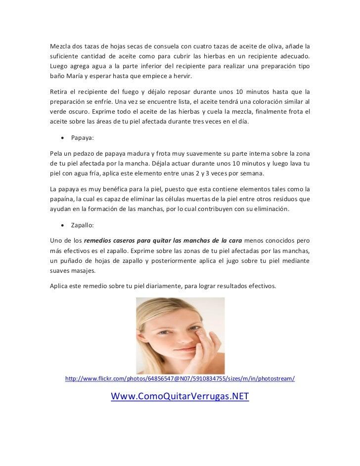 Remedios caseros para quitar las manchas de la cara - Quitar manchas de la pared ...