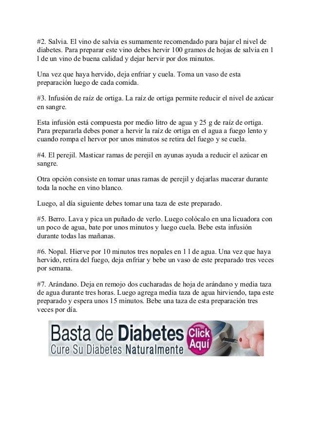 Remedios naturales para combatir la diabetes.