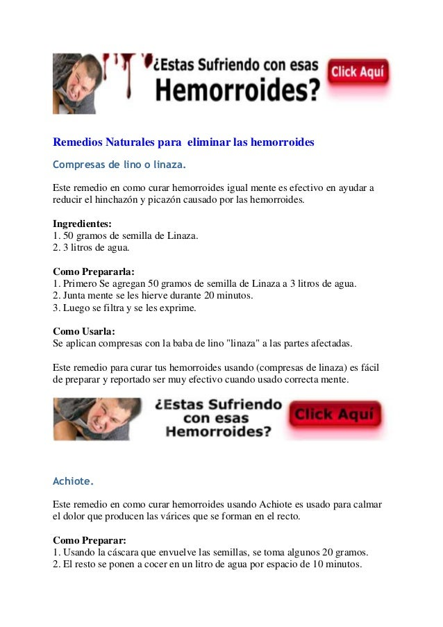 Remedios naturales para eliminar las hemorroides