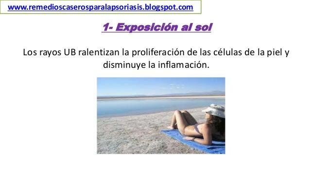 1- Exposición al sol Los rayos UB ralentizan la proliferación de las células de la piel y disminuye la inflamación. www.re...