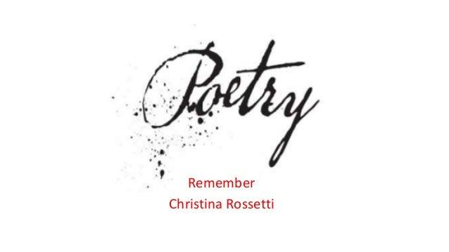Remember Christina Rossetti