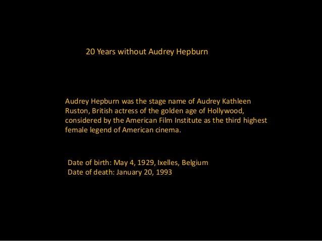 Remembering Audrey Hepburn Slide 2