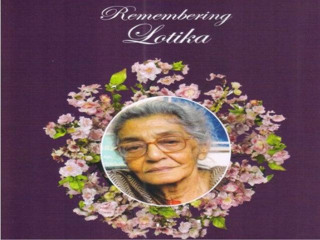 Remembering prof. lotika sarkar 1923 2013