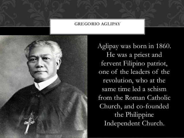 Aglipay was born in 1860. He was a priest and fervent Filipino patriot, one of the leaders of the revolution, who at the s...