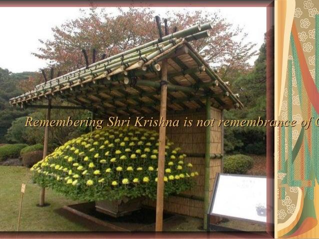 Remembering Shri Krishna is not remembrance of G