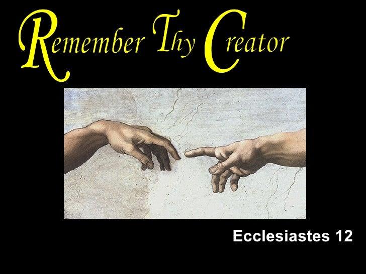 Ecclesiastes 12