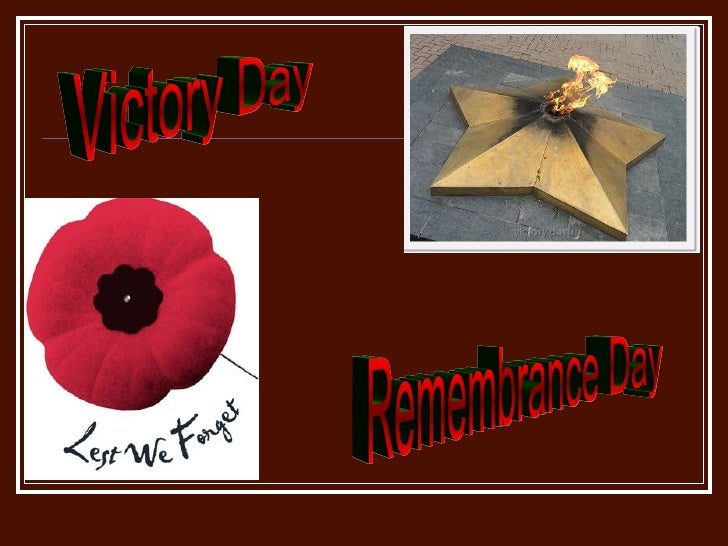 Victory Day Remembrance Day