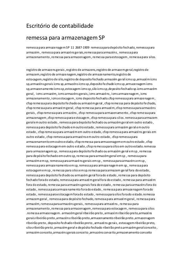 Escritório de contabilidade remessa para armazenagem SP remessaparaarmazenagemSP 11 2687-1909 remessaparadepósitofechado,r...