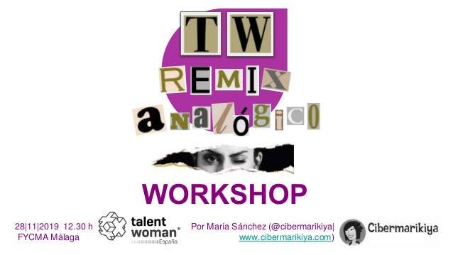 Por María Sánchez (@cibermarikiya| www.cibermarikiya.com) 28|11|2019 12.30 h FYCMA Málaga