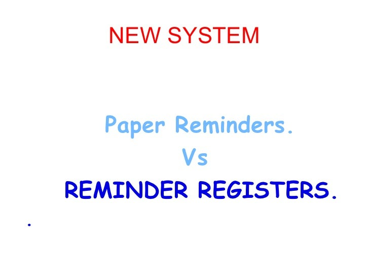 Reminder Free Revenue Offices