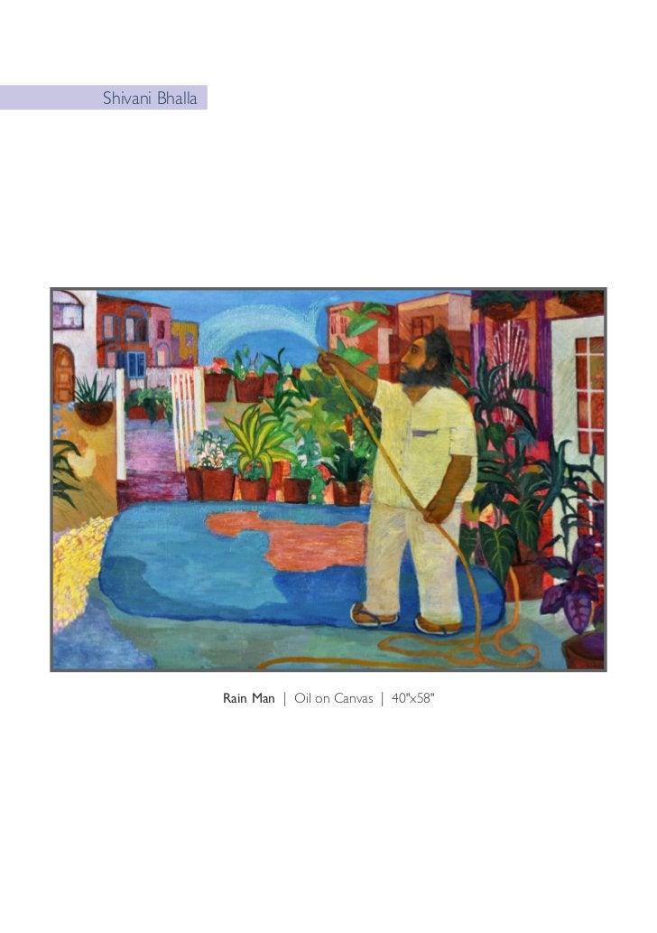 "Shivani Bhalla                 Dalia Eaters | Oil on Canvas | 65""x53"""