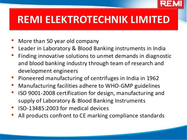 Remi Products Application In Industrial Laboratory And