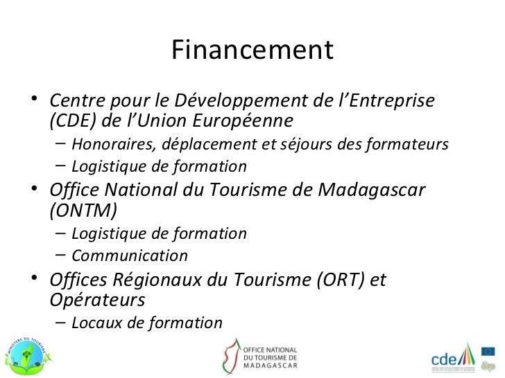 Programme de renforcement des capacites du personnel en activite - Office national du tourisme madagascar ...