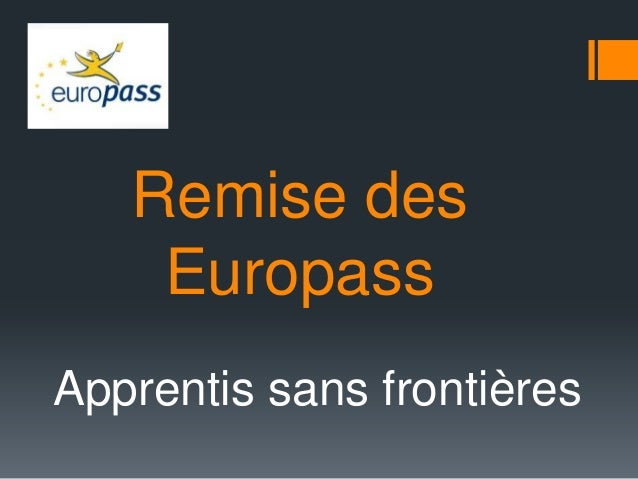 Remise des Europass Apprentis sans frontières