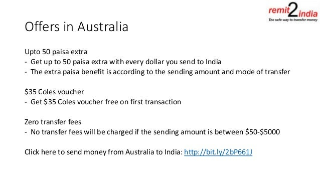 Remit2India offer and promotions - Transfer money to india