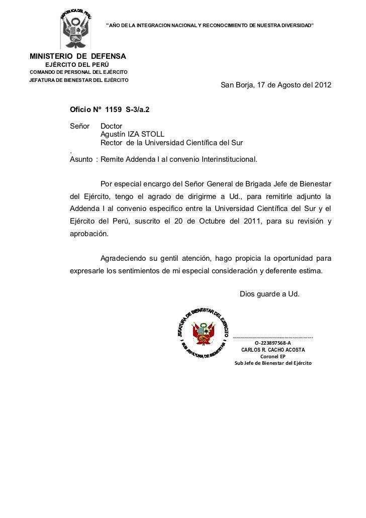 """""""AÑO DE LA INTEGRACION NACIONAL Y RECONOCIMIENTO DE NUESTRA DIVERSIDAD""""MINISTERIO DE DEFENSA     EJÉRCITO DEL PERÚCOMANDO ..."""