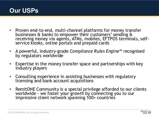 Remitone Money Transfer Systems