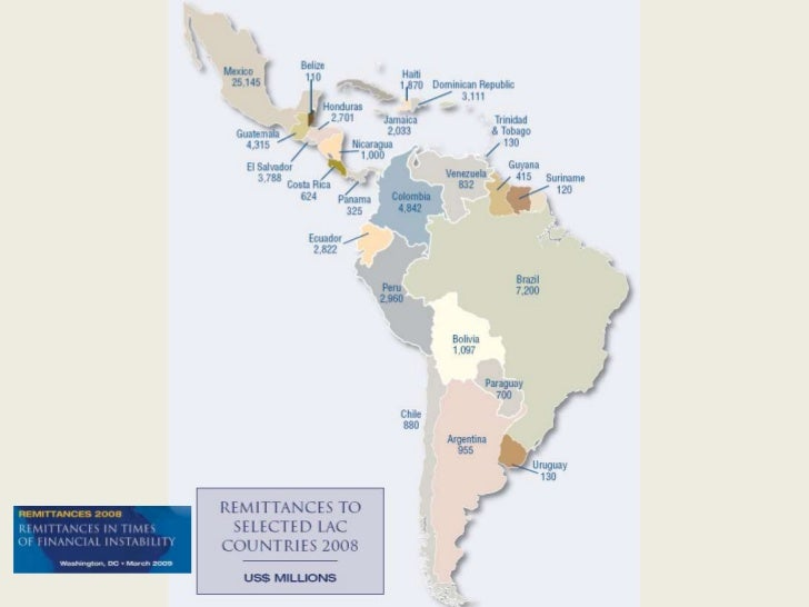 Remittances to Latin American Countries - 2008