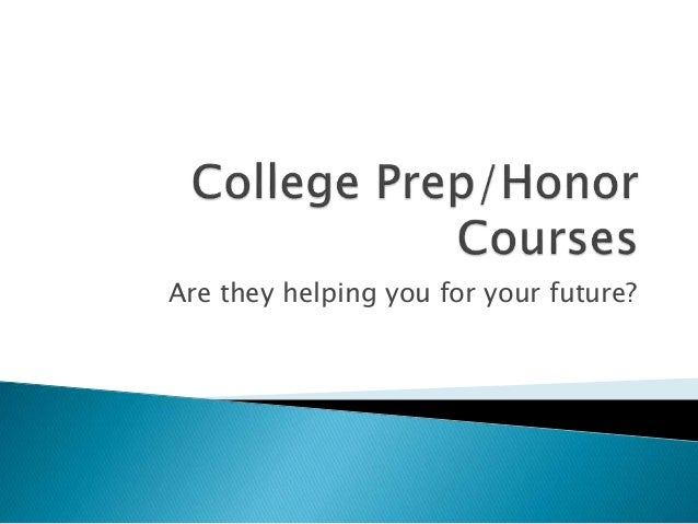 Are they helping you for your future?