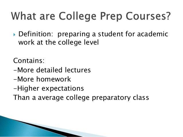 College Preparat& Honor Courses Slide 3