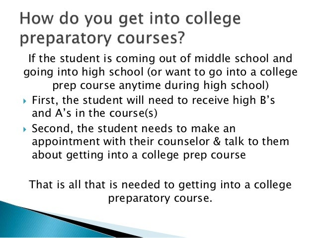 If the student is coming out of middle school and going into high school (or want to go into a college prep course anytime...