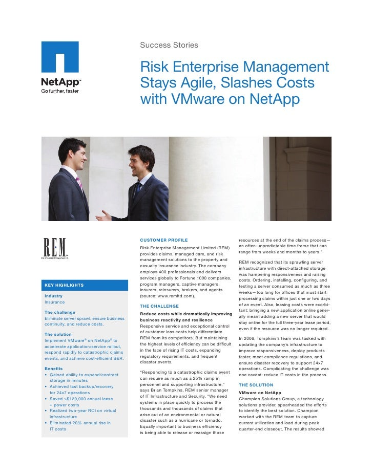 Success Stories                                             Risk Enterprise Management                                    ...