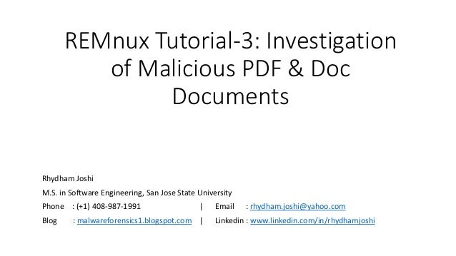 Malware Forensics Investigating And Analyzing Malicious Code Pdf