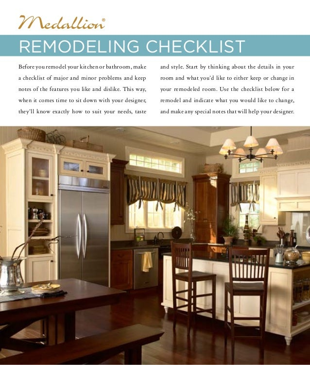 Can I Use Kitchen Cabinets In The Bathroom: Medallion Cabinets Remodeling Checklist