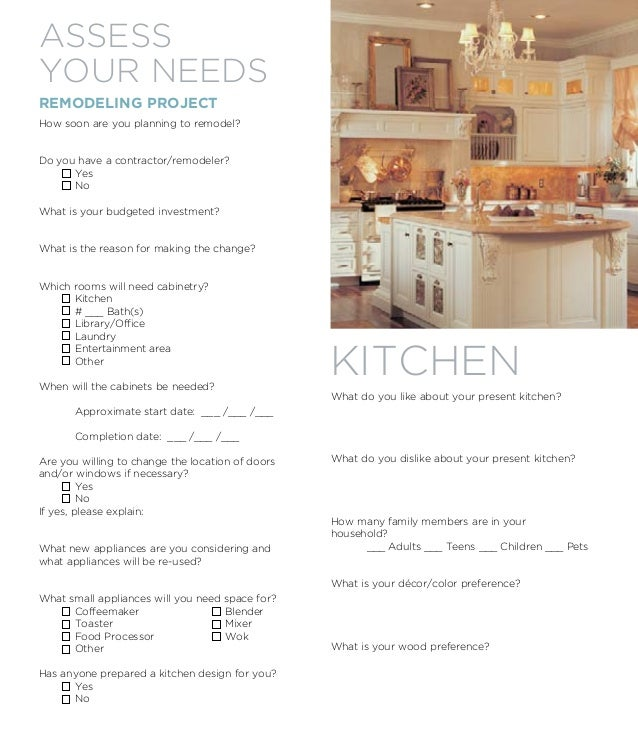 Medallion Cabinets Remodeling Checklist