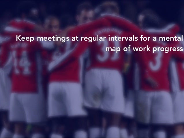 Keep meetings at regular intervals for a mental  map of work progress  Make sure your remote team stays on track and  head...