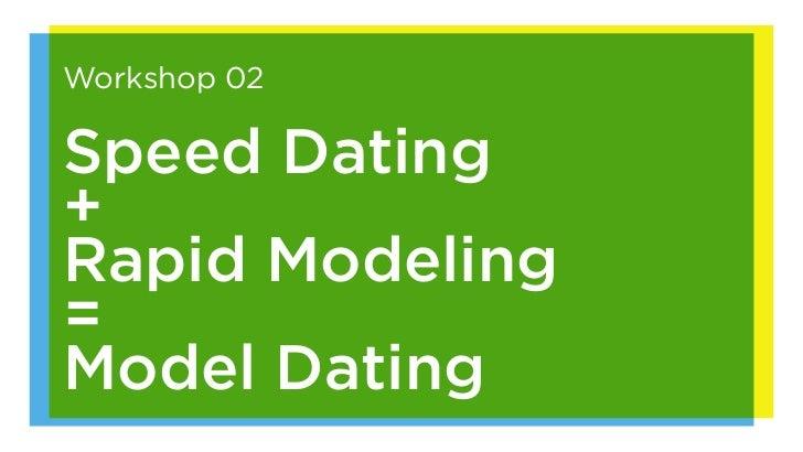 Workshop 02Speed Dating+Rapid Modeling=Model Dating