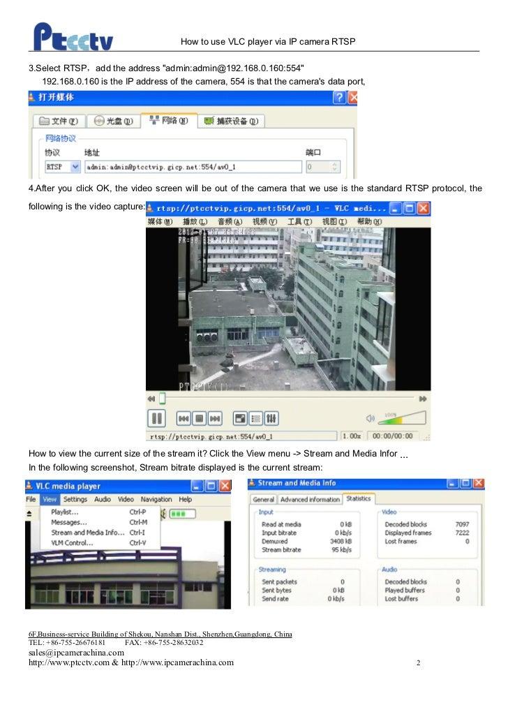 Remote access ip camera rtsp protocol via vlc player