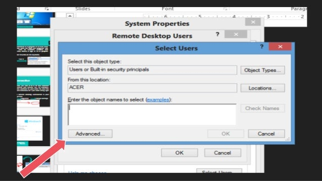 how to allow remote desktop connection