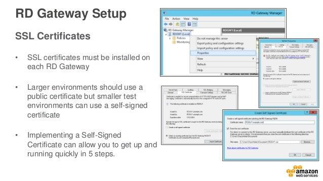 AWS Webcast - Deploying Remote Desktop Gateway on the AWS Cloud