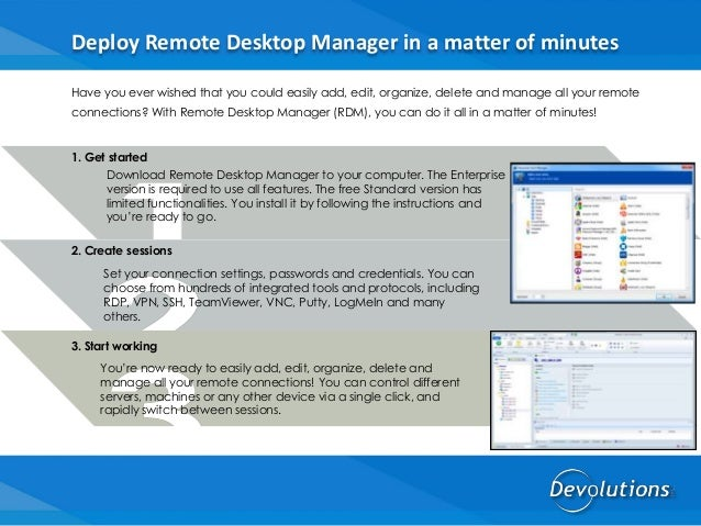 Remote Desktop Manager by Devolutions