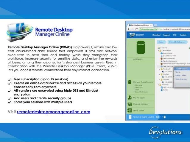 Remote Desktop Manager by Devolutions
