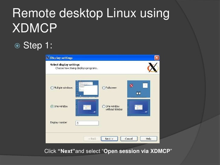 Remote desktop win to linux