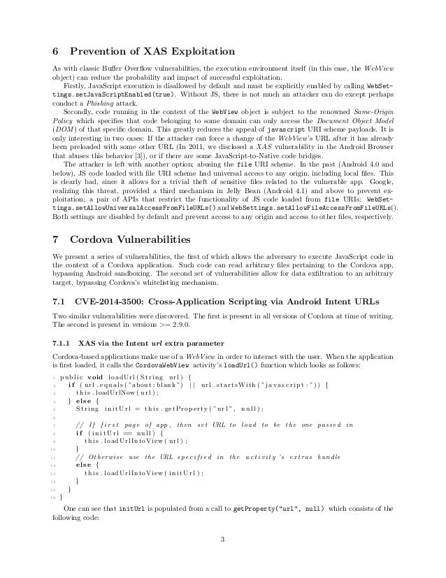 6 Prevention of XAS Exploitation As with classic Buffer Overflow vulnerabilities, the execution environment itself (in this ...