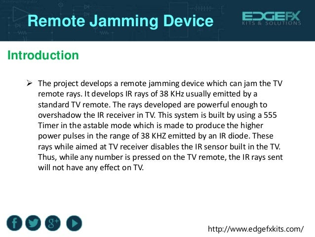 TV Remote Jammer | 555 Timer Projects | Final Year
