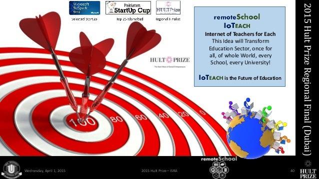 Remoteschool Iot Social Enterprise Hult Prize 2015