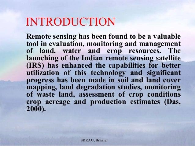 Application of Remote Sensing in Agriculture Slide 2