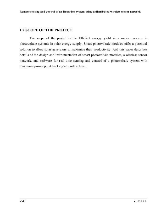 Sensing and control essay