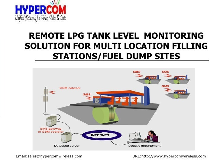 REMOTE LPG TANK LEVEL  MONITORING SOLUTION FOR MULTI LOCATION FILLING STATIONS/FUEL DUMP SITES