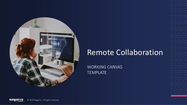 © 2020 Nagarro – All rights reserved WORKING CANVAS TEMPLATE Remote Collaboration