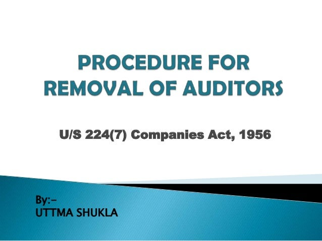 U/S 224(7) Companies Act, 1956By:-UTTMA SHUKLA