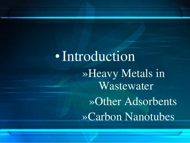 Removal of heavt metals by cn ts