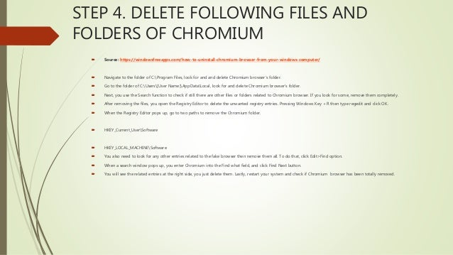 4 Steps To Remove Chromium Virus (Simple Removal Tutorial)