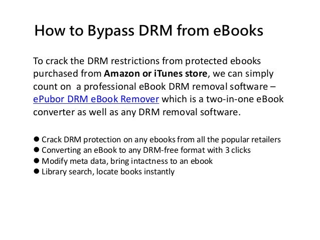 How to Crack DRM from Protected eBooks